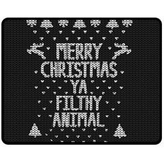 Ugly Christmas Sweater Double Sided Fleece Blanket (medium)