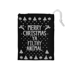 Ugly Christmas Sweater Drawstring Pouches (medium)