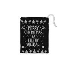 Ugly Christmas Sweater Drawstring Pouches (xs)