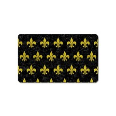 Royal1 Black Marble & Yellow Leather Magnet (name Card)