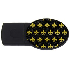 Royal1 Black Marble & Yellow Leather Usb Flash Drive Oval (4 Gb)