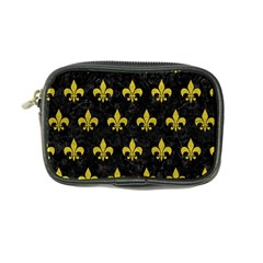 Royal1 Black Marble & Yellow Leather Coin Purse