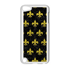 Royal1 Black Marble & Yellow Leather Apple Ipod Touch 5 Case (white)