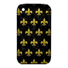 Royal1 Black Marble & Yellow Leather Iphone 3s/3gs