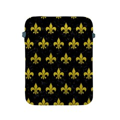 Royal1 Black Marble & Yellow Leather Apple Ipad 2/3/4 Protective Soft Cases