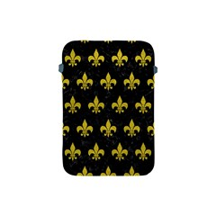 Royal1 Black Marble & Yellow Leather Apple Ipad Mini Protective Soft Cases