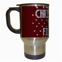 Ugly Christmas Sweater Travel Mugs (white)
