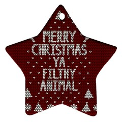 Ugly Christmas Sweater Star Ornament (two Sides)