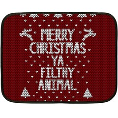 Ugly Christmas Sweater Double Sided Fleece Blanket (mini)