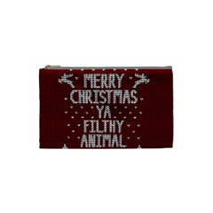Ugly Christmas Sweater Cosmetic Bag (small)
