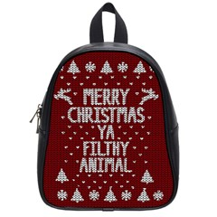Ugly Christmas Sweater School Bag (small)