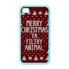 Ugly Christmas Sweater Apple Iphone 4 Case (color)