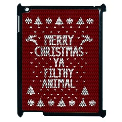 Ugly Christmas Sweater Apple Ipad 2 Case (black)