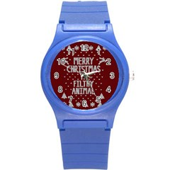 Ugly Christmas Sweater Round Plastic Sport Watch (s)