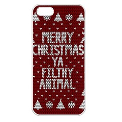 Ugly Christmas Sweater Apple Iphone 5 Seamless Case (white)