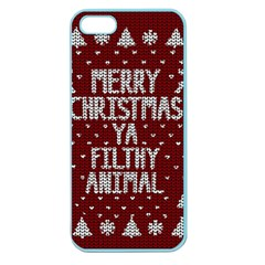 Ugly Christmas Sweater Apple Seamless Iphone 5 Case (color)