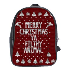 Ugly Christmas Sweater School Bag (xl)
