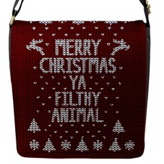 Ugly Christmas Sweater Flap Messenger Bag (s)