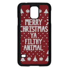 Ugly Christmas Sweater Samsung Galaxy S5 Case (black)