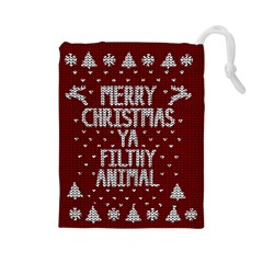 Ugly Christmas Sweater Drawstring Pouches (large)