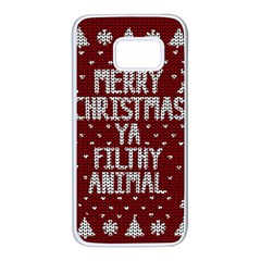 Ugly Christmas Sweater Samsung Galaxy S7 White Seamless Case