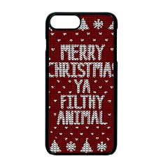 Ugly Christmas Sweater Apple Iphone 7 Plus Seamless Case (black)