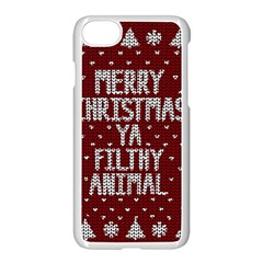 Ugly Christmas Sweater Apple Iphone 7 Seamless Case (white)