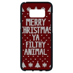 Ugly Christmas Sweater Samsung Galaxy S8 Black Seamless Case