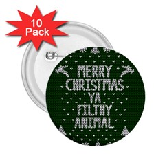 Ugly Christmas Sweater 2 25  Buttons (10 Pack)