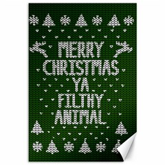 Ugly Christmas Sweater Canvas 12  X 18