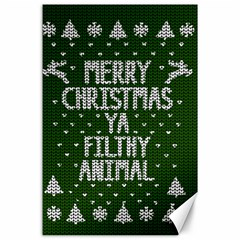Ugly Christmas Sweater Canvas 24  X 36
