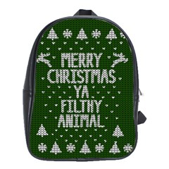 Ugly Christmas Sweater School Bag (large)