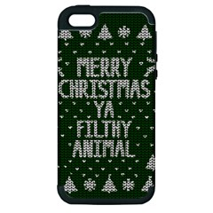Ugly Christmas Sweater Apple Iphone 5 Hardshell Case (pc+silicone)