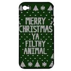 Ugly Christmas Sweater Apple Iphone 4/4s Hardshell Case (pc+silicone)
