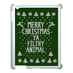 Ugly Christmas Sweater Apple Ipad 3/4 Case (white)