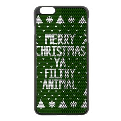 Ugly Christmas Sweater Apple Iphone 6 Plus/6s Plus Black Enamel Case