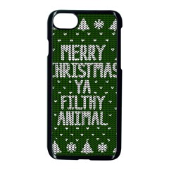 Ugly Christmas Sweater Apple Iphone 7 Seamless Case (black)