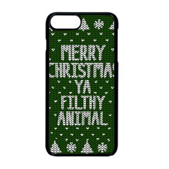 Ugly Christmas Sweater Apple Iphone 8 Plus Seamless Case (black)