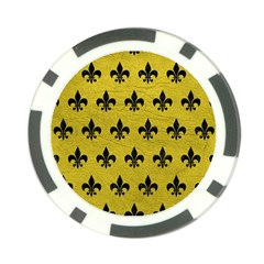 Royal1 Black Marble & Yellow Leather (r) Poker Chip Card Guard (10 Pack)
