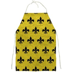 Royal1 Black Marble & Yellow Leather (r) Full Print Aprons