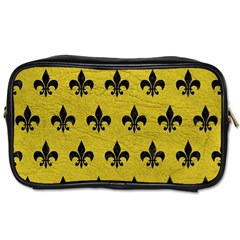 Royal1 Black Marble & Yellow Leather (r) Toiletries Bags