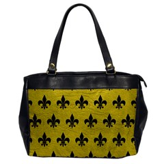 Royal1 Black Marble & Yellow Leather (r) Office Handbags