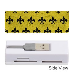 Royal1 Black Marble & Yellow Leather (r) Memory Card Reader (stick)