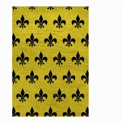 Royal1 Black Marble & Yellow Leather (r) Small Garden Flag (two Sides)