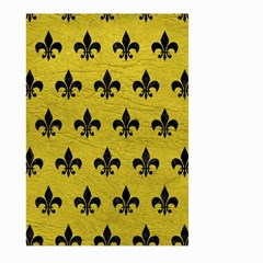 Royal1 Black Marble & Yellow Leather (r) Large Garden Flag (two Sides)