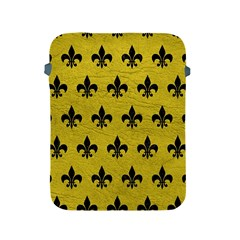 Royal1 Black Marble & Yellow Leather (r) Apple Ipad 2/3/4 Protective Soft Cases