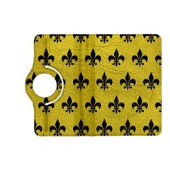 Royal1 Black Marble & Yellow Leather (r) Kindle Fire Hd (2013) Flip 360 Case
