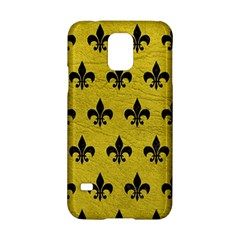 Royal1 Black Marble & Yellow Leather (r) Samsung Galaxy S5 Hardshell Case