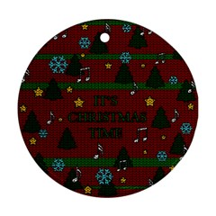 Ugly Christmas Sweater Ornament (round)