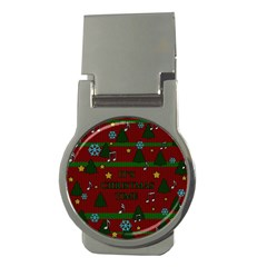 Ugly Christmas Sweater Money Clips (round)